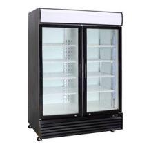 CRUSADER Black Or White 2 Glass Door refrigerator CCE1130 BLACK
