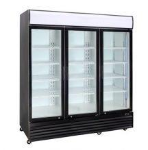 CRUSADER Upright 3 Glass Door refrigerator CCE1630 Black or White