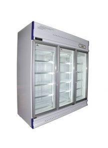 Anvil GDJ1880 three glass door upright fridge