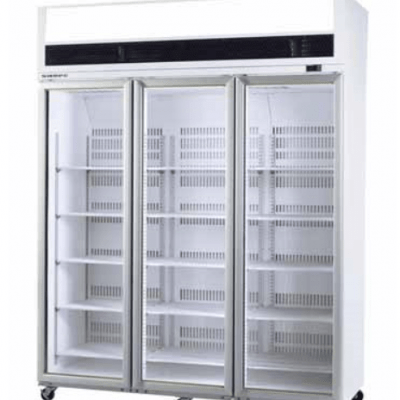 SKOPE VF1500 3 Door Display Freezer White Colour-Bond