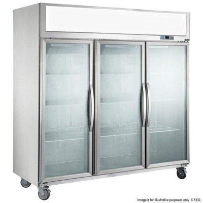 F.E.D SUCG1500 Triple Glass Door Fridge