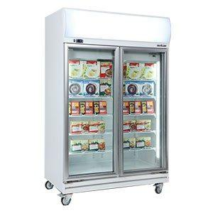 BROMIC UF1000LF 893L Fan Forced 2 Door Display Freezer