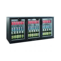 Bar Fridges Bottle Coolers Back Bar Chillers Bar Commercial Our range of Bottle Coolers Back Bar Chillers come in various sizes with 1, 2 and 3 door models. Our preferred supplier Bromic, Williams Skope, Skipio and FED for our Bottle Coolers Back Bar Chillers range. These fridges are designed for under counter use and come with adjustable feet or removable castors. They have 2 to 4 levels of shelving either fixed or adjustable. Doors are self closing and double glazed. Refrigeration is fan forced air control, auto defrost with digital temperature display. Under-bench bottle cooler style fridges and drink chillers can store up to 182 bottles (x330ml). They come with stainless steel finish, double glazed lockable doors and internal light for display. Features are forced air refrigeration, electronic controller, digital temperature display, one or two levels of adjustable shelving. Under-counter bottle cooler fridges in 3 door models can store up to 278 bottles (x330ml) with 1 or 2 levels of adjustable shelving. You can choose a model in stainless steel or black PVC exterior. Doors are lockable, self closing and double glazed with easy clean handles. Refrigeration system is forced air and comes with electronic controller, digital temperature display. Castors or leveling feet are designed for under-bench use. Comes with stainless steel interior and lighting. The largest under-counter bottle cooler drink fridges come in 4 door models. Finish is stainless steel interior with black PVC exterior. Doors have locks and easy clean handles, self closing mechanism and double glazing. Interior has adjustable shelving and light. Also has forced air refrigeration, adjustable electronic controller and digital temperature display.