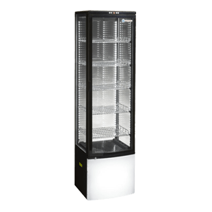 ICS PACIFIC Como 500 Glass Display 4 Sided Refrigerator