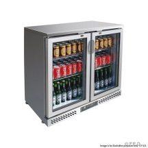 FED SC248SG two door SS Drink Cooler