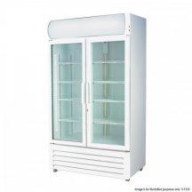 LG-1000GE Large 2 Door Display Fridge White