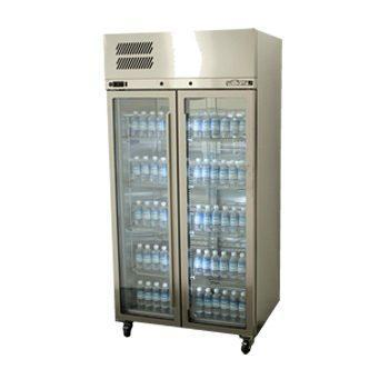 WILLIAMS HRS2GDSS Ruby two door upright display fridge.