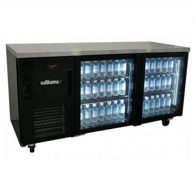 WILLIAMS HCS2UBFGDCBB 2 DOOR DISPLAY BACK BAR