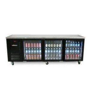 WILLIAMS HCS3UBFGDCBB 3 DOOR DISPLAY BACK BAR