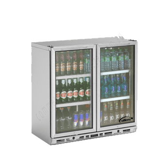 Williams BC2SS-80 2 Door Display Bottle Cooler 80CM High