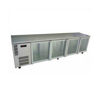 WILLIAMS HCS4UFBGDDSS 4 GLASS DOOR UNDERCOUNTER DISPLAY S/S FRIDGE