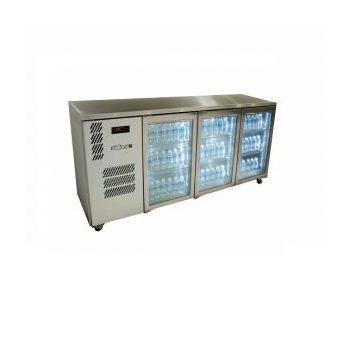 WILLIAMS HCS3UFBGDDSS 3 GLASS DOOR UNDERCOUNTER DISPLAY FRIDGE