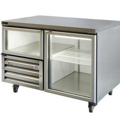 ANVIL-AIRE UBG1200 11/2 Glass Door Under Bench Fridge