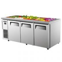 SKIPIO SSR18-3 Salad Side Prep Table Buffet Refrigerator