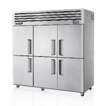 Skipio SFT65-6 Upright Storage Freezer Six Half Doors Stainless Steel