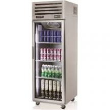 SKIPIO SRT25-1G REACH-IN TOP MOUNT Single GLASS DOOR DISPLAY FRIDGE