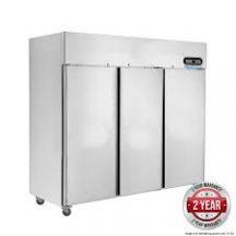 FED SUF1500 Three Door SS Upright Display Freezer
