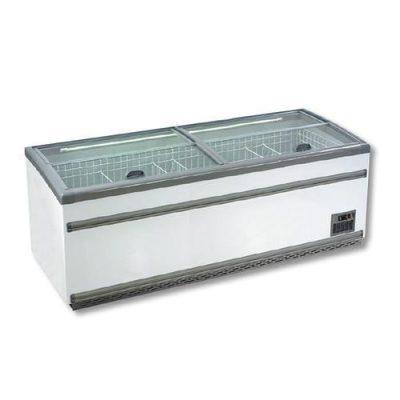 F.E.D ZCD-L250S 1040 Litres Supermarket Island Dual Temperature Freezer & Chiller with Glass Sliding Lids