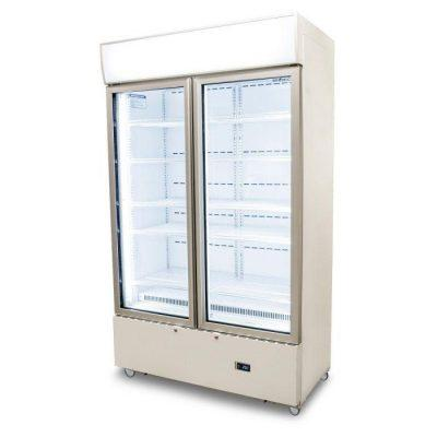 GM1000LWCAS Cassette Flat Glass Door LED Display Chiller