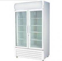 F.E.D LG-580GE Double glass door 880 mm wide fridge