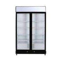 GM1000LBECO | Flat Glass Two Door LED Upright Display Eco Chiller