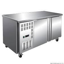 F.E.D TS1800BT 1800mm Wide 600mm Deep S/S Double Door Workbench Freezer