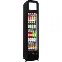 Schmick SK135R-B Glass Door Skinny Tall Upright Display Bar Fridge 135 Litre