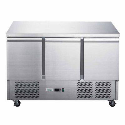 FED-XGNS1300B Three Door Counter Compact Workbench Fridge