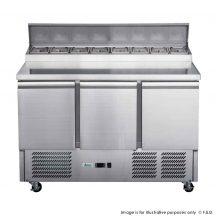 FED-XGNS1300D Three Door Counter Salad Prep Fridge