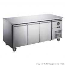 FED-XUB6F18S3V 1795mm Wide 600mm Deep S/S Three Door Underbar Counter Freezer