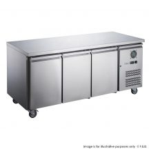 FED-XUB7F18S3V 1795mm Wide 700mm Deep S/S Three Door Underbar Counter Freezer