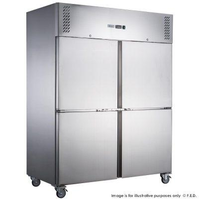 FED-XURF1410S2V X S/S Double Split Door Storage Upright Freezer