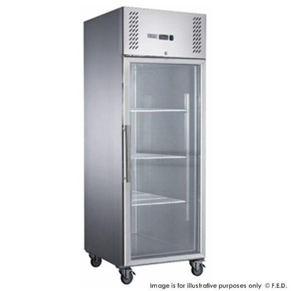 FED-XURF600G1V X S/S Single Split Door Display Upright Freezer
