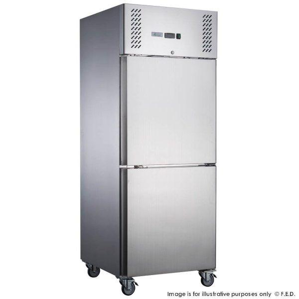 FED-XURF650S1V X S/S Single Split Door Storage Upright Freezer
