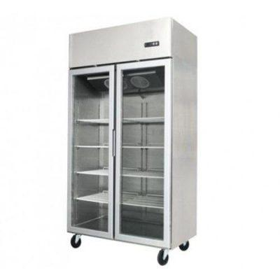 Jono JUFD1000G 1000 Litre Commercial Display Upright Freezer Two Door Stainless Steel