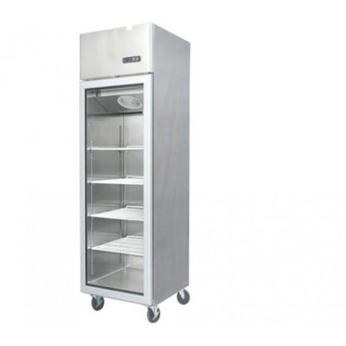 Jono JUFS700 700 Litre Commercial Upright Display Freezer One Door Stainless Steel Glass