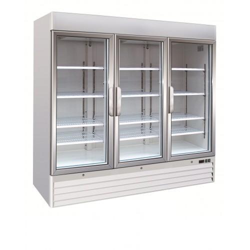 HUFT1550G 1547 Litre Commercial Upright Display Freezer Three Door Colourbond