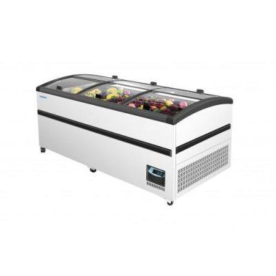 Jono IF650G Commercial Glass Chest Freezer Island Freezer 650 Litre