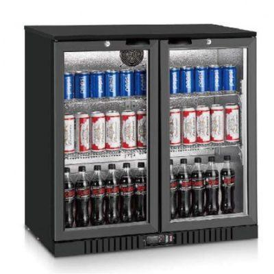 Jono ABM210G 201L Commercial Black Magic Two Door Display Bar Fridges