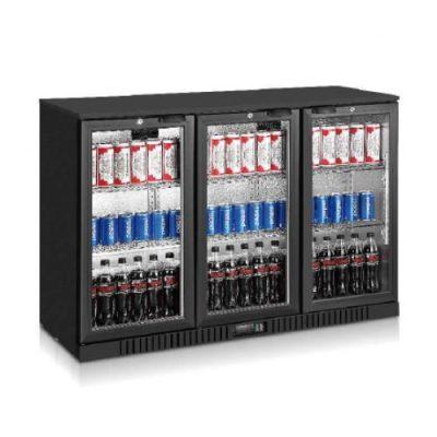 Jono ABM330G 308L Commercial Black Magic Triple Door Display Bar Fridges
