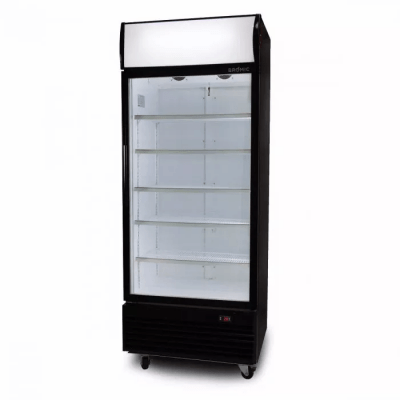 BROMIC GM0660LB 660L Upright Display Fridge with Lighbox (Black) ECO Flat Glass Door