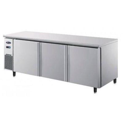 Jono JBFT470 470L Commercial Storage Under Bar Bench Freezers Three Door on Wheels
