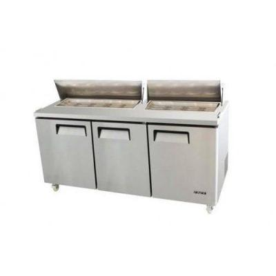 538L Commercial Salad Preps Three Small Door 9 x 1/3 GN Pan (Pan not included)
