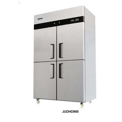 Jono Commercial JUDHD900 900 Litre Dual Temperature Fridge & Freezer Four Half Doors Stainless Steel Upright