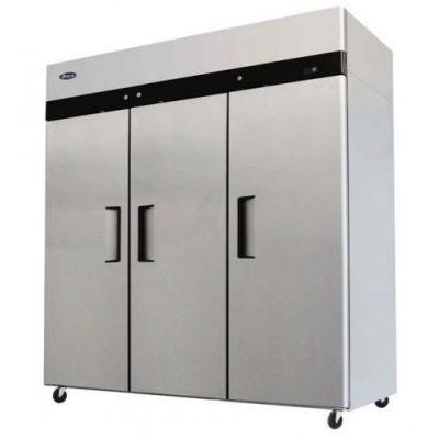 Jono JUFT1500S 1500 Litre Commercial Three Door Upright Stainless Steel Freezer