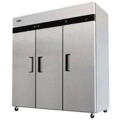 Jono JUFT1500S 1500 Litre Commercial Three Door Upright Stainless Steel Freezer