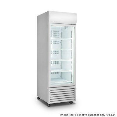 FED LG-540GT Single Glass Door Colourbond Upright Drink Fridge