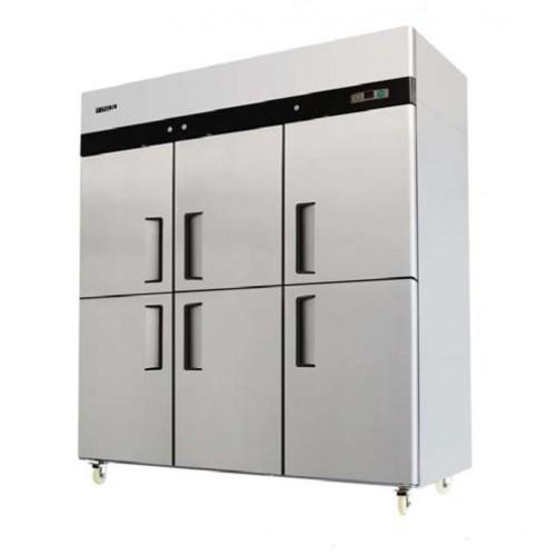 Jono Commercial JUDHT1500 1390 Litre Dual Temperature Fridge & Freezer Six Half Doors Stainless Steel Upright