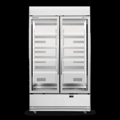 SKOPE BME1200N-AC 2 Glass Door Display or Storage Fridge, Lit Sign