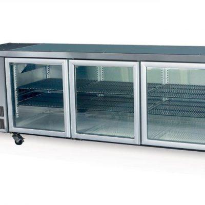 SKOPE CC500 3 Glass or Solid Swing Door Fridge